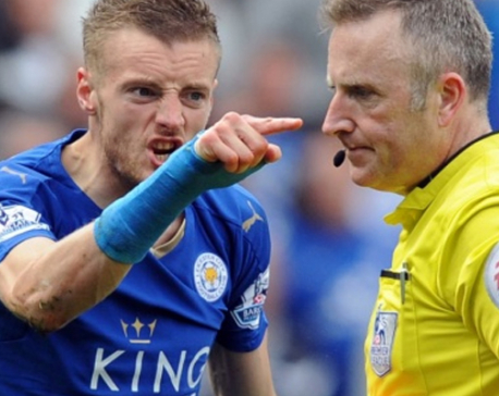 Leicester's Vardy backed by Hodgson as he faces extended ban