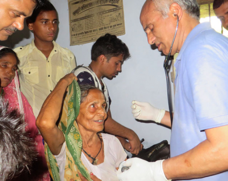Dr KC's free health camp continues in Tilathi