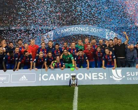 FC Barcelona beats Sevilla 3-0 to win the Spanish Super Cup