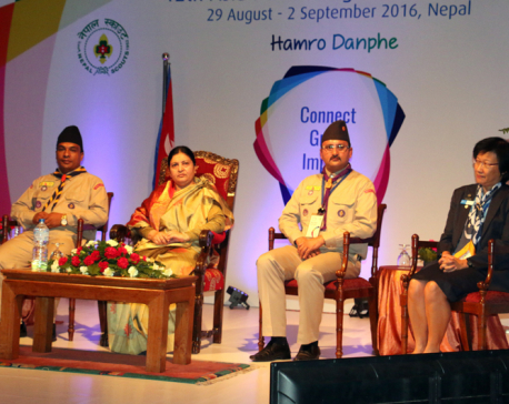 President Bhandari opens World Girls Scout regional conference
