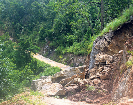 Mid-Hill Lokmarga Highway faces contractor delays