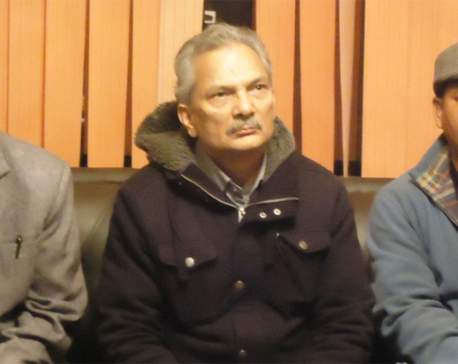 Shoe thrown at Naya Shakti Party Coordinator Bhattarai
