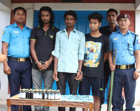 Five drug peddlers arrested in Dharan