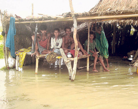 People living in island village under risk of floods