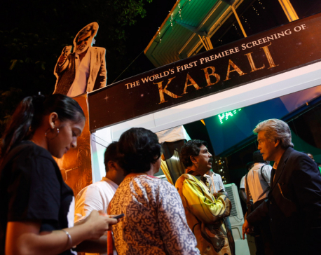 Crowds cheer Indian superstar Rajnikanth's latest film