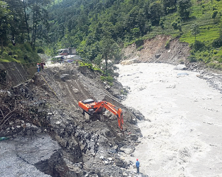 New road track to restore transportation links cut off by Bhotekoshi River