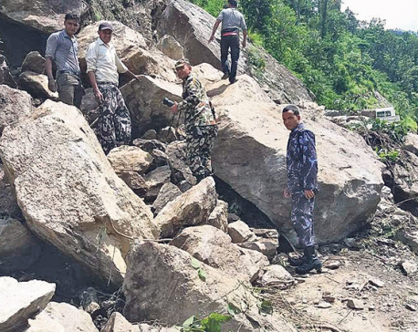Army clears obstructions at Karnali Highway after 4 days