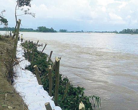Locals terrified as Karnali River erodes its bank