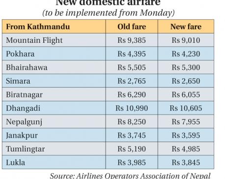 Airlines cut domestic fare
