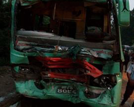 65 injured in Makawanpur bus collision
