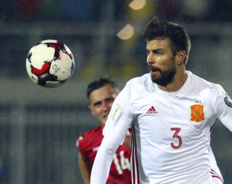 Pique says he will leave Spain national team after 2018 World Cup
