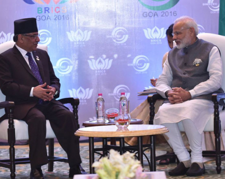 PM Dahal, Indian PM Modi discuss bilateral issues