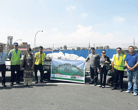 Tara Air starts cleaning in Everest region