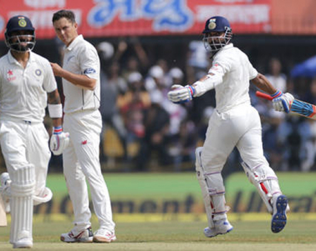 Kohli and Rahane lead India's onslaught against New Zealand