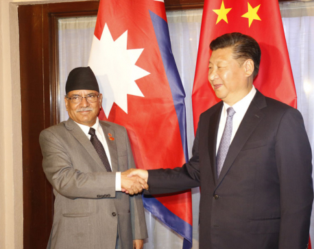 PM Dahal meets Chinese President in Goa