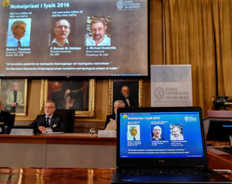 Nobel physics prize awarded to 3 for topology work