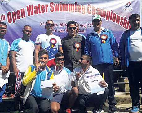 Sirish wins 2.5 km swimming