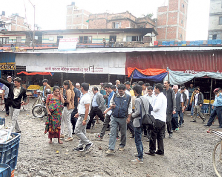 Vegetable traders protest market inspection