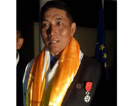 Ang Norbu gets top French honor
