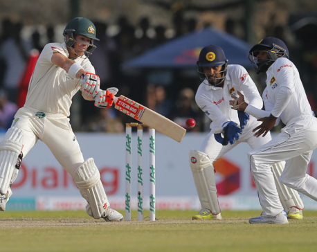 Australia 54-2 at stumps to trail Sri Lanka by 227