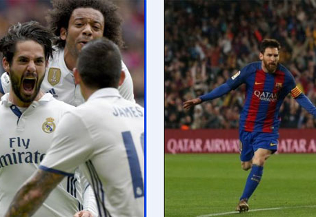 Double delight for Messi, Isco as Barca and Real bag nervy wins