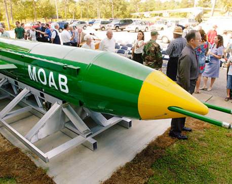 US drops 'mother of all bombs' on Islamic State tunnel