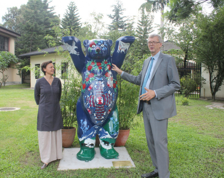 Buddy Bear celebrates Nepal-Germany friendship