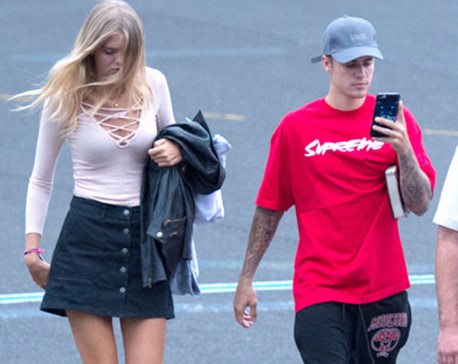 Justin Bieber spotted with aspiring model