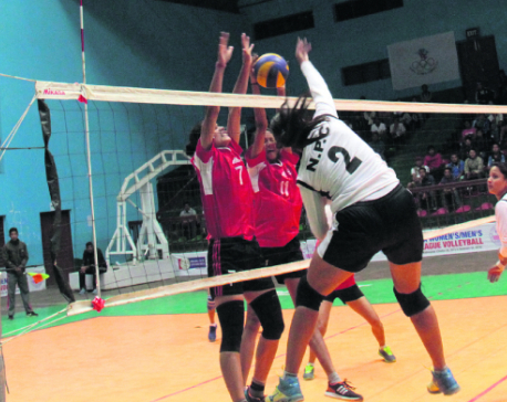 Police off to winning start in league volleyball
