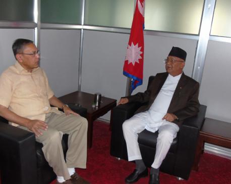 Interference in internal affairs unacceptable: Oli tells Indian envoy Rae