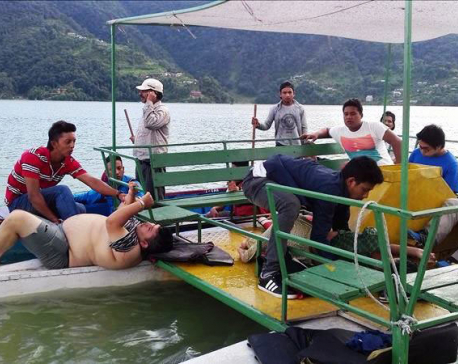 Two youths missing as boat capsizes in Fewa Lake