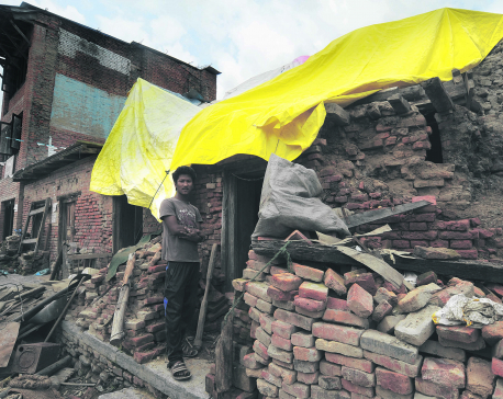 15 months after killer quake, Bungamati still in ruins
