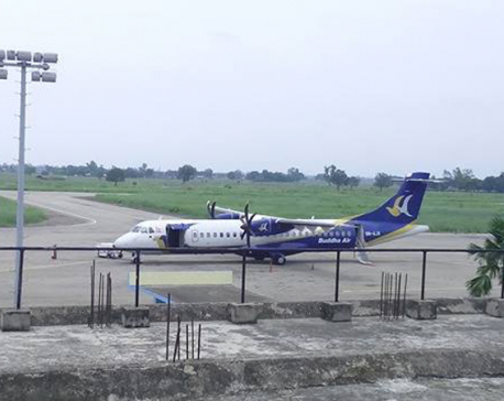 Buddha Air aircraft suffers bird hit at Nepalgunj Airport