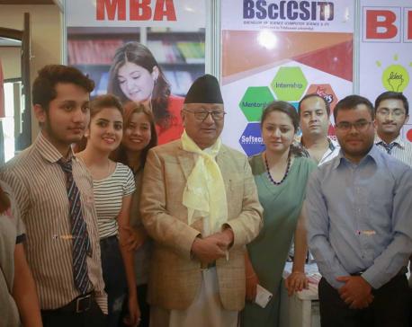 'Herald College Nagarik Education Fair 2017' begins in Kathmandu (photo feature)