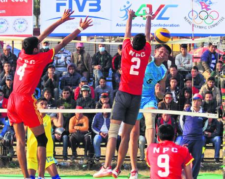 Departmental teams into Srijana volleyball final