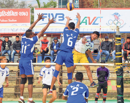 APF continues its winning streak in Srijana volleyball
