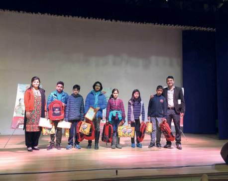 Dabur Nepal winter season school campaign concludes