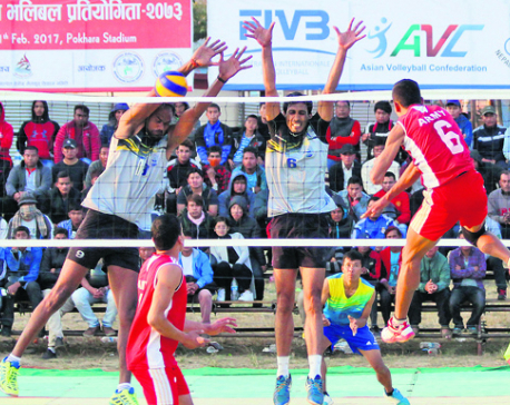 Departmental teams dominate Srijana volleyball