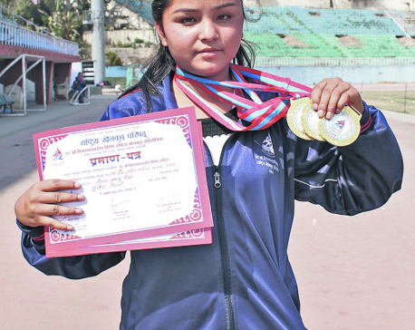 Sunita wins three gold medals