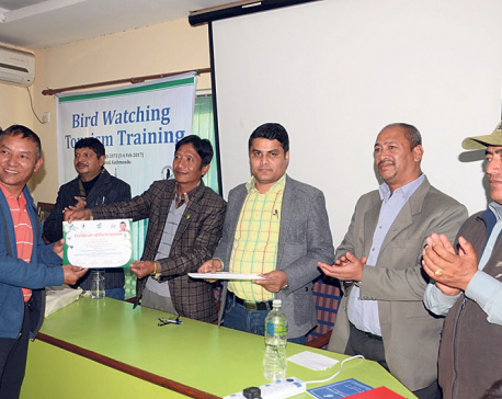 TAAN organizes bird watching training for trekking guides