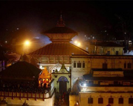After Muktinath, Indian PM Modi reaches Pashupatinath