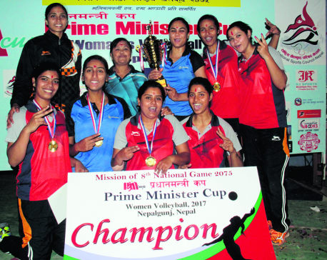 Railway Team defends PM Cup Volleyball title