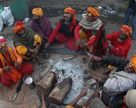 Hundreds of Sadhus throng Pashupati temple for Maha Shivaratri