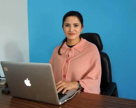 Nepali female scientist is still a news to many in Nepal