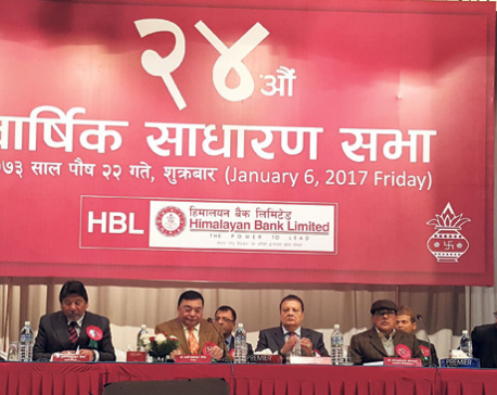 Himalayan Bank approves 30% bonus shares