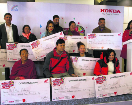 Syakar Trading unveils 'Honda Wheel of Fortune' winners
