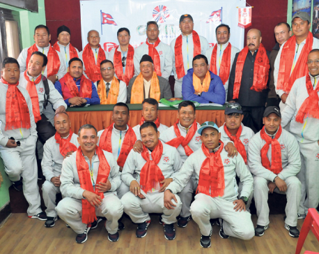 Nepali veteran football team off to India