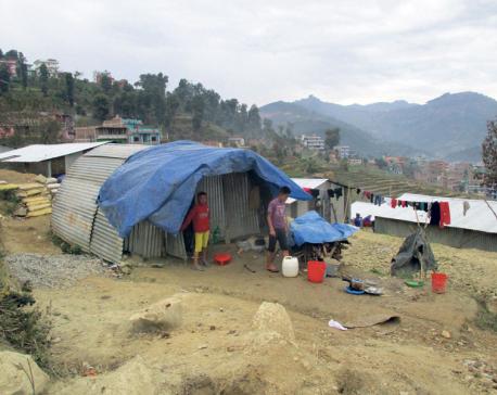 Continuous snowfall, rain affect life of quake victims