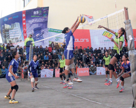 Reed Model leads Dhorpatan volleyball