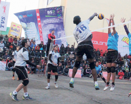 Top teams register wins in volleyball